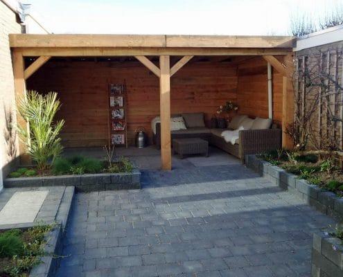 Moderne tuin aangelegd door Snijers Tuinen