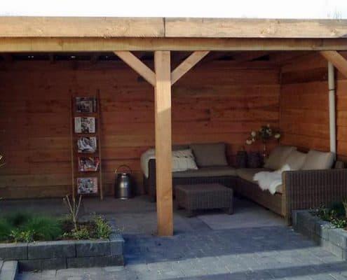 terrasoverkapping gemaakt door Snijers Tuinen